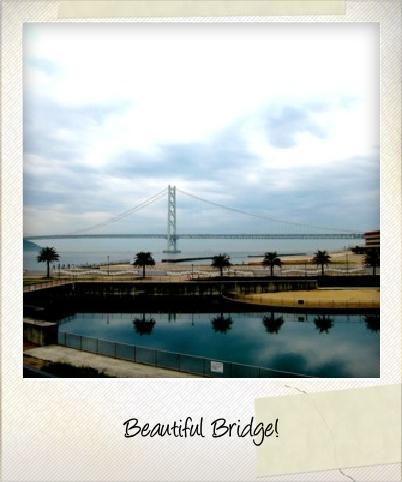 明石海峡大橋のポラロイド風写真